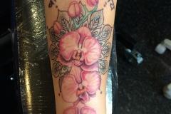 Orchids and Mandala. Inkhaus Tattoo.