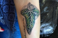 Leaf of Lorien. Inkhaus Tattoo.