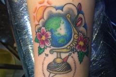 Globe. Inkhaus Tattoo.