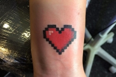 Pixelated Heart. Inkhaus Tattoo.