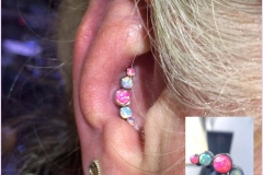 Conch Piercing with Anatometal Cluster. Inkhaus Tattoo.