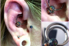 Daith Piercing with Anatometal. Inkhaus Tattoo.