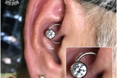 Daith with Industrial Strength CBR. Inkhaus Tattoo.