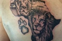 Greyscale Lions. Inkhaus Tattoo.