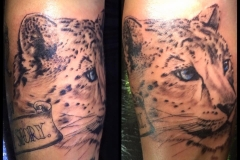 Snow Leopard. Inkhaus Tattoo.