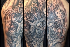 Greyscale Skeleton Pirates. Inkhaus Tattoo.
