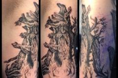 Greyscale Treebeard. Inkhaus Tattoo.