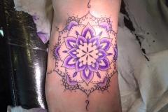 Purple Mandala. Inkhaus Tattoo.