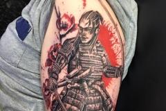 Trash Polka Samurai. Inkhaus Tattoo.