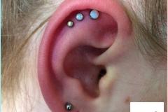 Triple Flat with Opals. Inkhaus Tattoo.