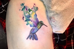 Watercolour Hummingbird. Inkhaus Tattoo.