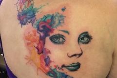 Watercolour Face. Inkhaus Tattoo.