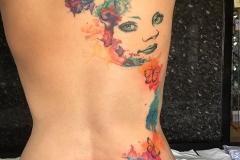 Watercolour Back Piece. Inkhaus Tattoo.